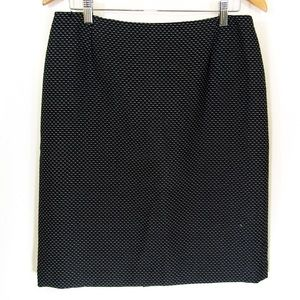 Black Tweed Suit Skirt